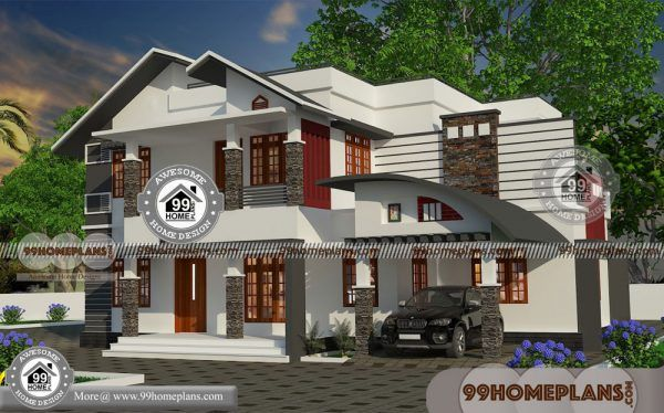 Contemporary Single Storey House Designs With 2 Floor Low Cost Plans House Plans With Photos House Design Small House Design