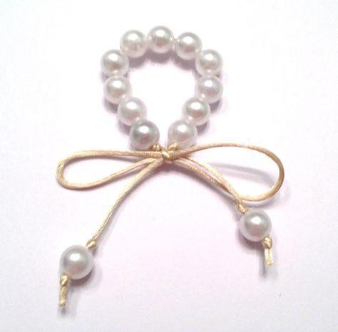 Anillo de servilleta perla anillos anillos de por OurUniverseShop