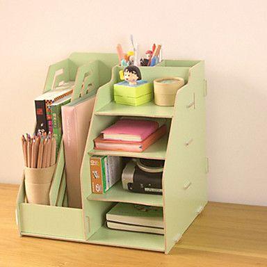 Moderne de couleur pleine en bois étagère de bureau - 2 couleurs Avaliable de 2016 ? R$91.4