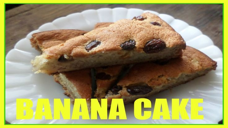 Banana cake video recipe.