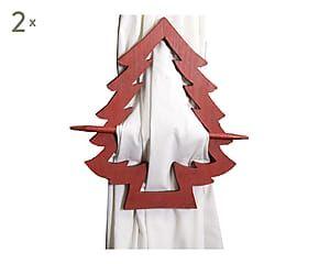 2 Embrasses de rideau bois, rouge - H27