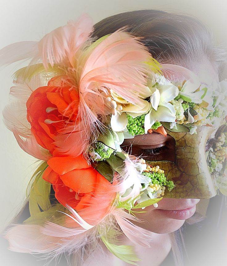 flower carnival mask