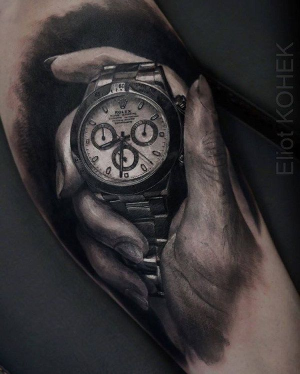 70 Amazing 3d Tattoo Designs 3d Hand And Watch Tattoo 70