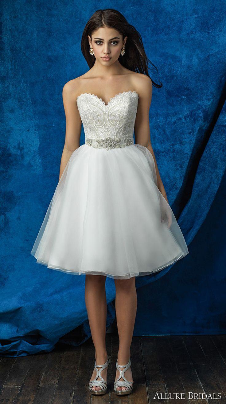213 best images about short tea length wedding dresses for Allure short wedding dress