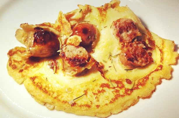 Toad in the hole pancakes - definitely one for the boys!