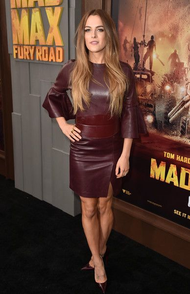 Riley Keough in awesome leather dress
