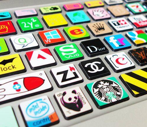 keyboard decal mac pro decals stickers sticker Apple Mac laptop vinyl 3M  surprise gift for her