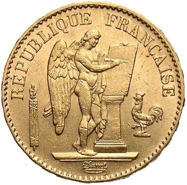 Gold French 20 Franc Angel