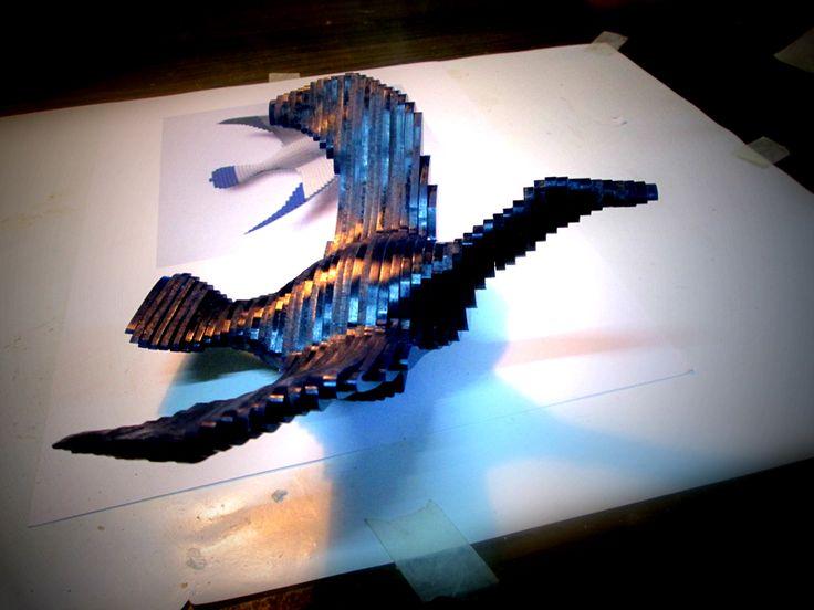 Gabbiano ---- Fai da te - hobby legno - 3d model su Facebook.com