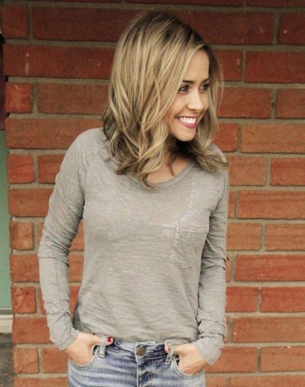 Good length with longer layers <3 (not blonde). Inspiration discovered by georgianna raby. #redken #tspafargo @bloomdotcom