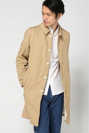 LIVING CONCEPT work coat  LIVING CONCEPT work coat 17791 カットソーのようなコットン素材を使用し柔らかい着心地と軽さが特徴的なコート 裏地もすべてコットン100なのでTシャツやカットソーの上に着た際も心地良い肌触りでストレスなく着用できます 寒くなる季節には総裏使用の裏地は防寒性を高めてくれる枚です クセのないシンプルなデザインは幅広いコーディネートに対応できます LIVING CONCEPTリビング コンセプト 雑貨とホームウェアのブランドLIVING CONCEPT 建築(バウハウス)TOOL(道具)人体工学(利便性)の視点から観た 実験的素材によるアイテムを展開しております しかし単に幅が広いだけでなく何れも生産背景にしっかりと拘りを持ち作られている物達です モデルサイズ:身長:186cm バスト:89cm ウェスト:72cm ヒップ:90cm 着用サイズ:3