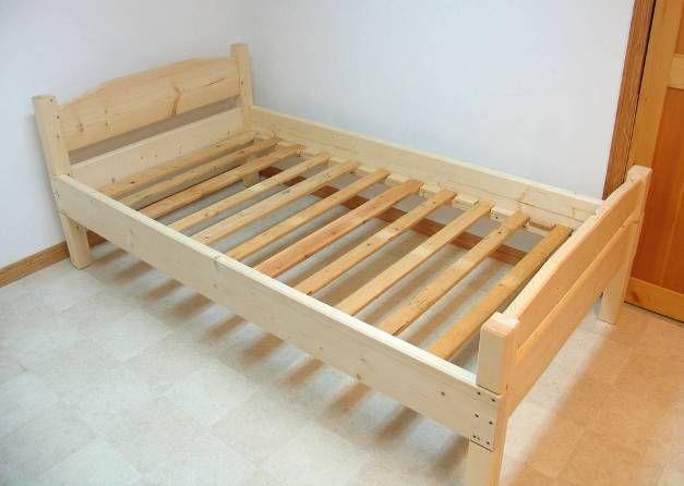Diy bed frame 2x4 Diy bed frame, Diy twin bed, Bed frame