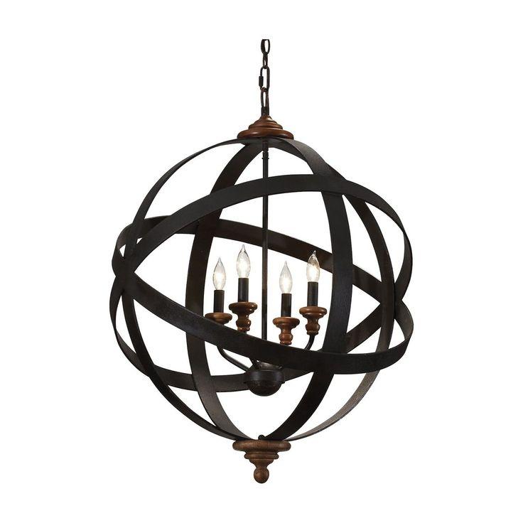 Four Light Armillary Chandelier - Ethan Allen US