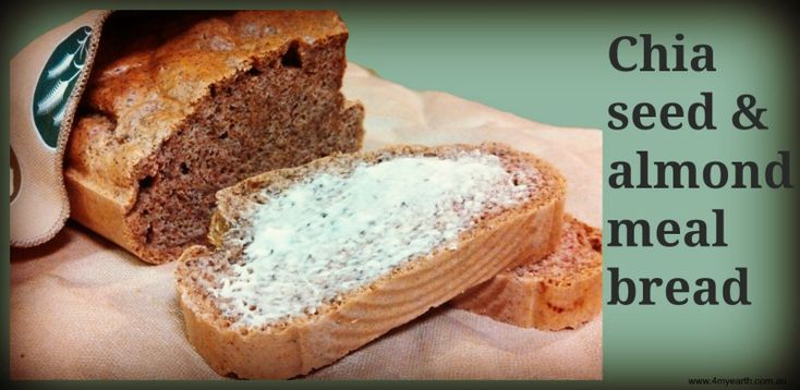 Easy and quick recipe. Originally from  http://www.taniaspantry.com/gluten-free-grain-free-dairy-free-nut-free-recipes/gluten-free-grain-free-paleo-yeast-free-baking/gluten-free-grain-free-yeast-free-dairy-free-bread-paleo/ For a Thermomix or Thermochef version http://naturalnewagemum.com/tanias-almond-and-chia-bread/  Keep fresh in a 4MyEarth Food Wrap http://www.4myearth.com.au/store/index.php?cPath=4=a98b1e1907818fffb6ebb07978ff3b8c
