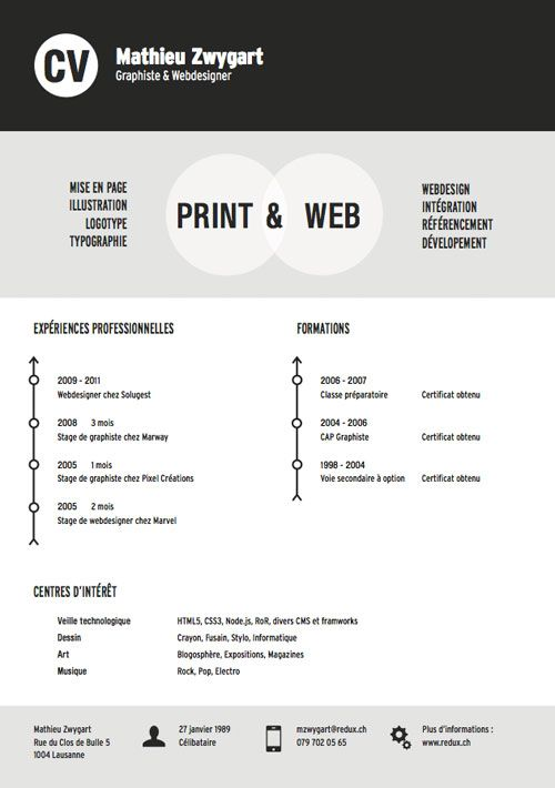 22 best Resume images on Pinterest Resume, Resume design and - difference between cv and resume