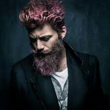 Beard and hair with color
