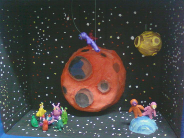 Космос пластелин+папье-маше