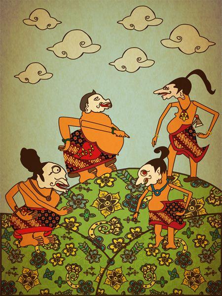 The Punakawan by Farisa Saranadya, via Behance