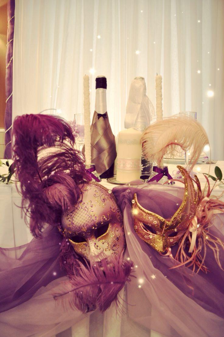 Венецианская свадьба Марии и Кирилла  #свадьба #оформлениересторана #букетневесты #2013