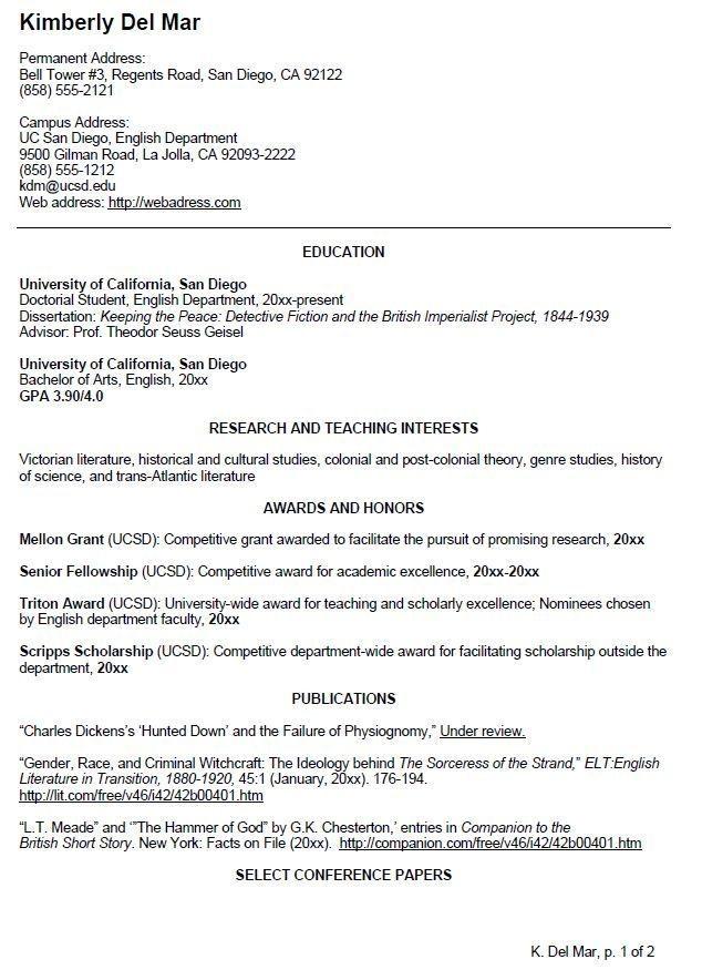 undergraduate college resume template