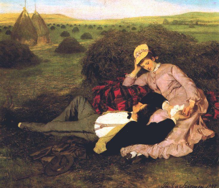 Szerelmespár (Twosome) by Szinyei Merse Pál, 1870