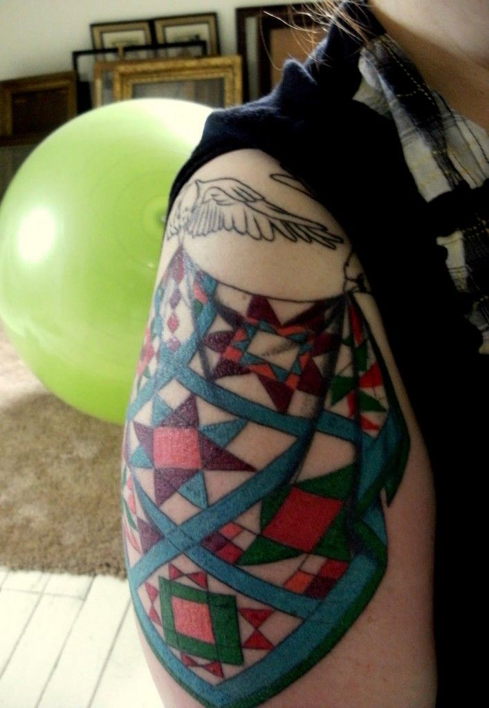 85 best sewing tats images on Pinterest | Be cool, Beautiful and ... : quilt patch tattoo - Adamdwight.com