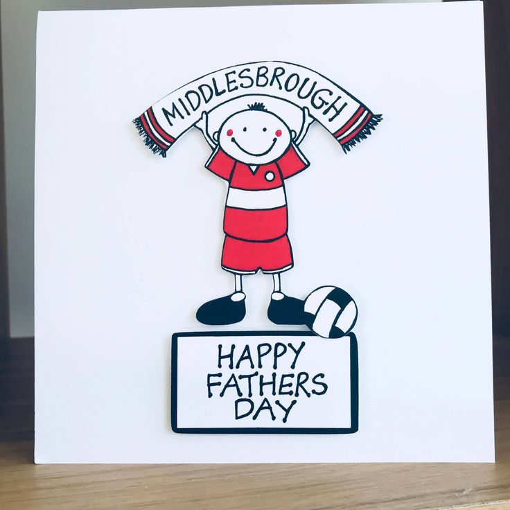A personal favourite from my Etsy shop https://www.etsy.com/uk/listing/582122890/middlesbrough-fc-fathers-day