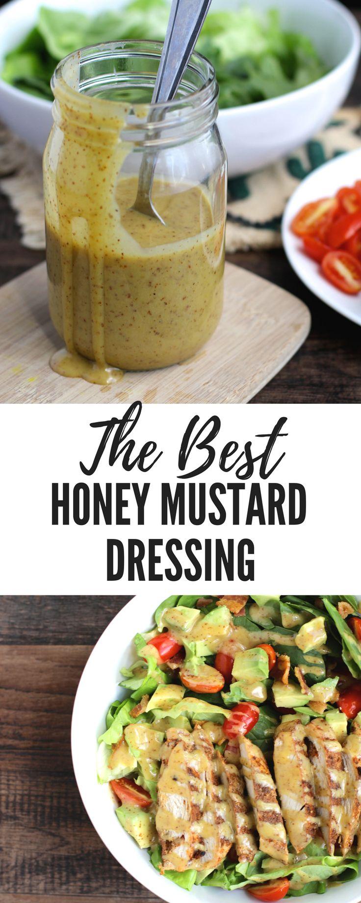 Ich LIEBE mich cremig Honig Senf Dressing. Dieser ist spritzig und süß, und h …   – Meals