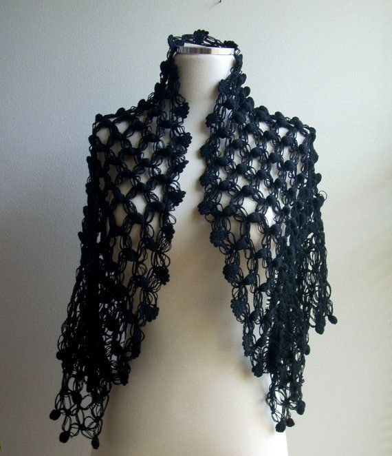 Free shipping Black wedding shawl women for by TheAnatolianstyle