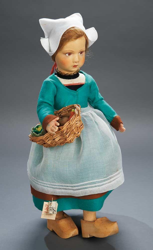 Felt Character Doll in Dutch Costume by Lenci