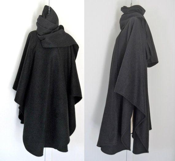 1000  ideas about Winter Cape on Pinterest | Black cape