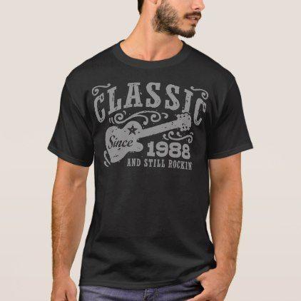 Classic Since 1988 T-Shirt - birthday gifts party celebration custom gift ideas diy
