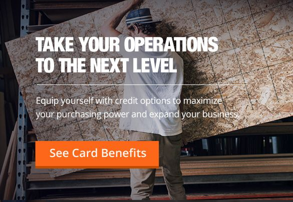 home depot commercial revolving card application