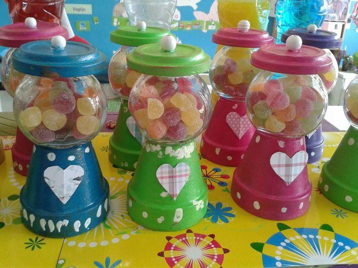 Moederdag: de snoepjesmachine, wat een leuk idee!