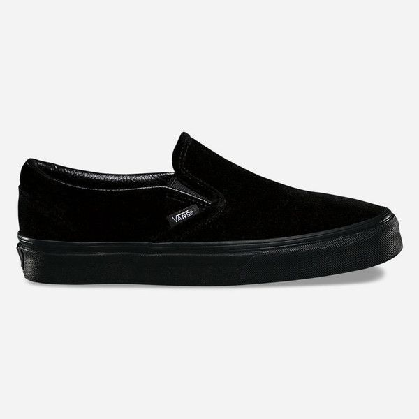 a8b11faaf9e15d Vans Velvet Classic Slip-On Shoes (195 PEN) ❤ liked on Polyvore featuring  shoes