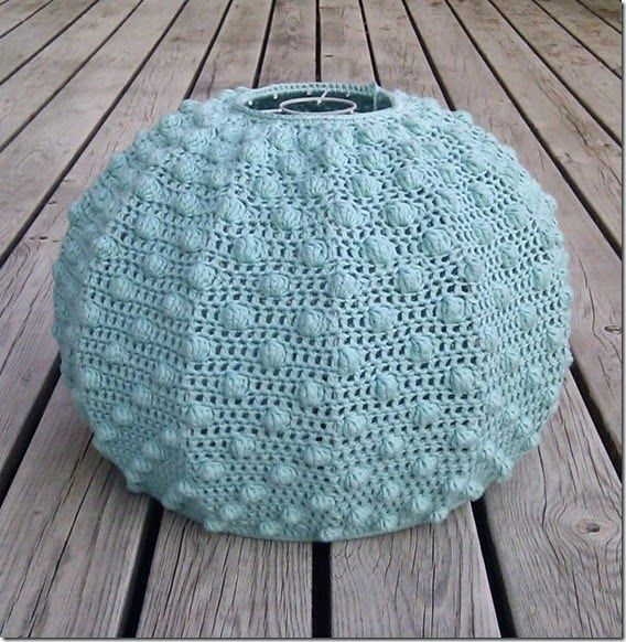 Love this crocheted lampshade made by Solveig of Solstrikke. Instructions in her post.