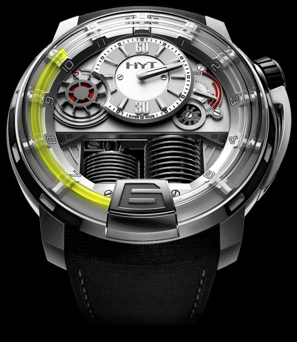 The H1 by HYT Watches is the world's first timepiece to ever combine mechanical and liquid engineering.