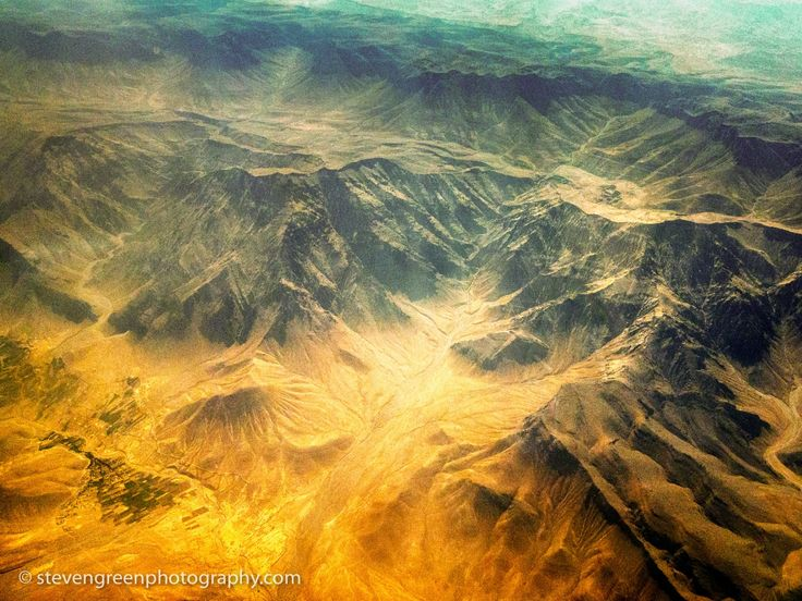 Afghanistan Abstract Aerial Photograph - Aerial photograph of mountainous arid #terrain of northeastern Kandahar Province, #Afghanistan presents a natural  form of #abstract art. (2012) #travel #landscape #aerialphotography #Kandahar #Steven Green #abstract #aerial photography #afghanistan #arid #desert #fine art #geography #interior design #landsbelow #landscape #mountain #outdoor #photography #remote #ridge #rugged #sand #travel #valley #wall art