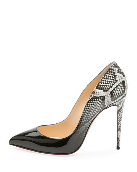 03f3e0fb874f Pigalle Follies Ombre Snake-Print Red Sole Pump