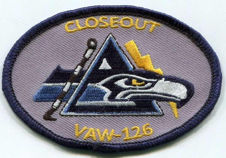 126 US Navy special Closeout patch tailhook seahawk