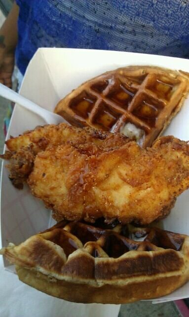 Buttermilk Food Truck Chicken Cinnamon Waffles Soo Flippin Good