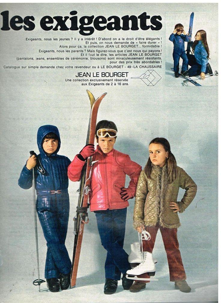 Publicité Advertising 1970 LES Vetements DE SKI Pour Enfants Jean LE Bourget | eBay
