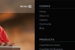 mobiel menu