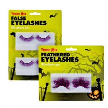 Feather False Eye Lashes Assorted - Halloween Fancy Dress - Halloween #poundlandhalloween