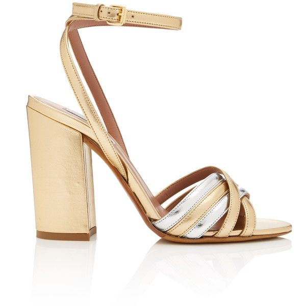 Tabitha Simmons Toni Leather Sandals (2.690 RON) ❤ liked on Polyvore featuring shoes, sandals, leather footwear, tabitha simmons, tabitha simmons shoes, leather sandals and tabitha simmons sandals
