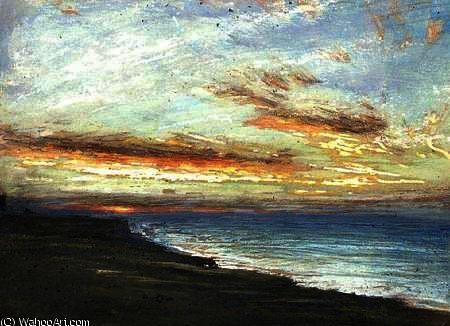 Côte du Norfolk de Albert Goodwin (1845-1932, United Kingdom)