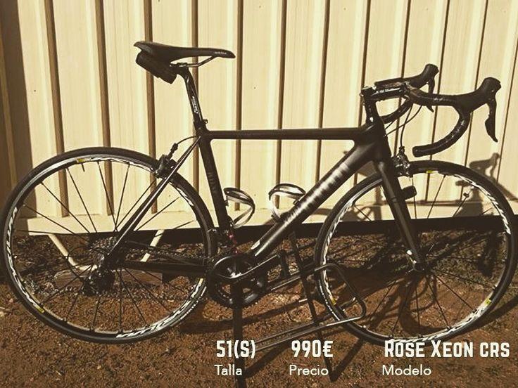 """Bicicleta de carretera con cuadro de carbono grupo ultegra  y con ruedas Mavic Ksyrium S Elite por menos de 1000. No no es una """"bulo"""" Échale un vistazo a Rose Xeon CRS en BKIE  #ciclismo #cyclingexperience #cycling #lifestyle #roadbike #bici #btt #roadbike #biker #bikelife #niner #bicicleta #bike #MTB"""