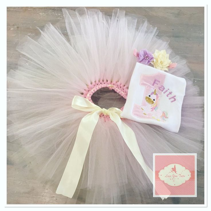 Embroidered Unicorn tutu set