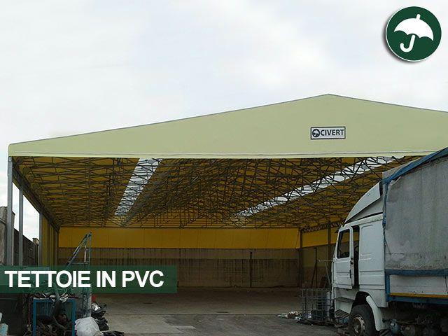 #tettoia #pvc per #ampliamento #zona #stoccaggio #materiale