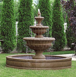 Chanticleer Fountain - traditional - outdoor fountains - by FRONTGATE